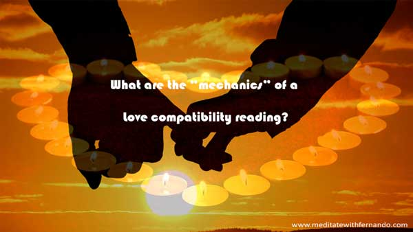 What is checked through a love compatibility reading?