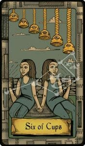 The Conspiracy Tarot: six of cups