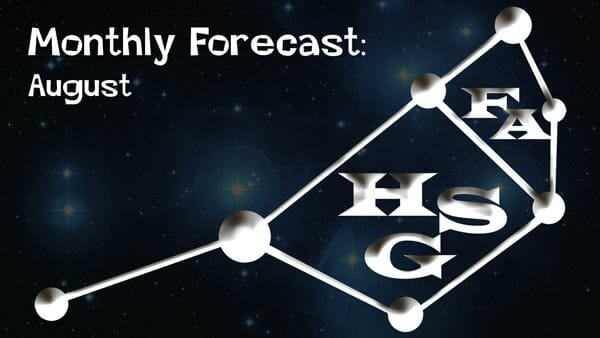 August Forecast 2020: General Forecast ready: Your daily dose of light.