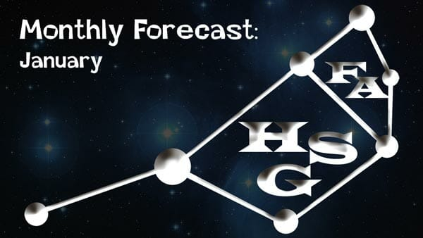 January Forecast 2020: General Forecast ready: Your daily dose of light.
