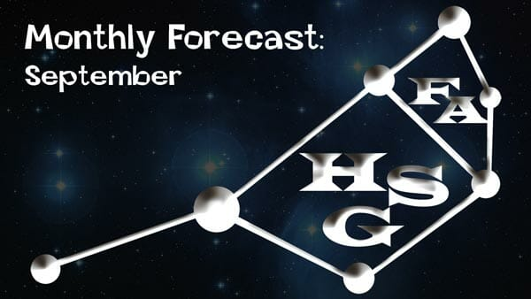 September Forecast 2020: General Forecast ready: Your daily dose of light.