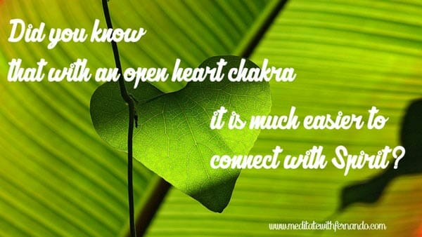 Empower your connection with Spirit with an open heart chakra. (Did you know 2016)