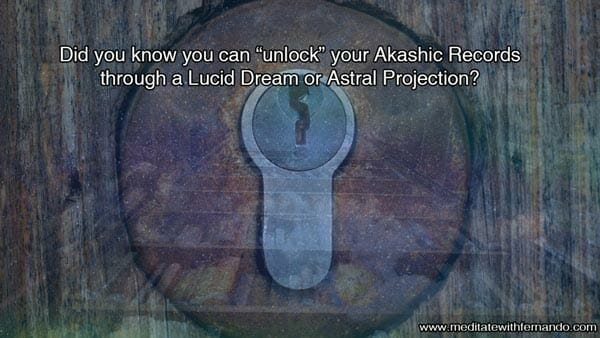 Accessing the Akashic records in dreams.