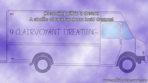 Dreaming in a Dream: A shuffle of lucid and non lucid dreams in one big dream.
