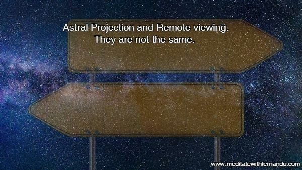 Remote viewing and astral projection.