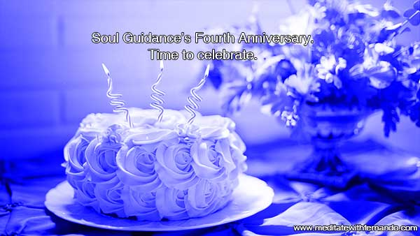 Fourth Anniversary for Soul Guidance's blog.