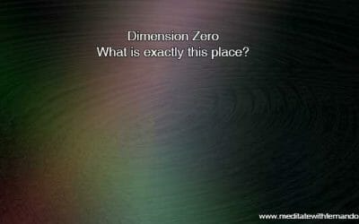 What is the dimension zero? I am sharing something curious.