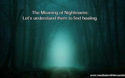 Nightmares also have meanings. Let's find healing from them.