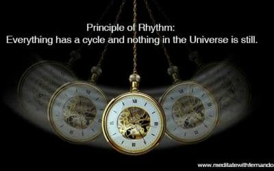Principle of Rhythm: Everything has a cycle and nothing in the Universe is still.
