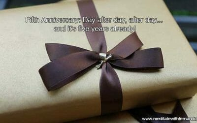 Fifth Anniversary: Day after day, after day… and it's five years already!